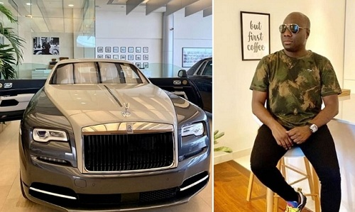 Mompha shows off his N180m Rolls Royce Wraith Eagle VIII 2020 [ first to own it in Africa]