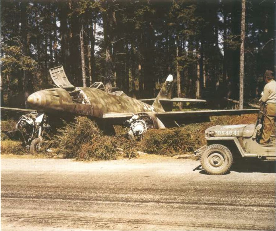 3d426821 An Abandoned German Me 262 A2a Jet Fighter-Bomber Found by the US Army Near  Frankfurt, Germany 1945