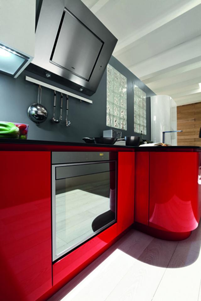 Pasi n por el deporte cocinas con estilo - Cocinas rojas y blancas ...