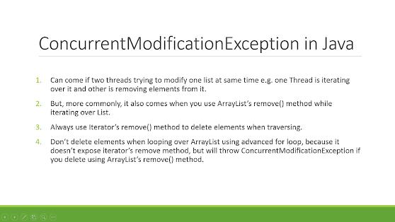 How to solve ConcurrentModificationException in Java