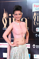 Akshara Haasan in Peachy Crop Top Choli Skirt at IIFA Utsavam Awards 37.JPG