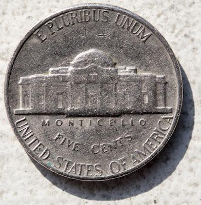 Reverse of of 1967 Nickel, Monticello