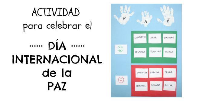actividad infantil día Interancional de la Paz: mural semáforo