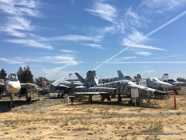 overview of planes at Pacific Coast Air Museum in Santa Rosa, California