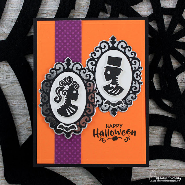 Happy Halloween Card by Juliana Michaels featuring Creepy Cameos Stamp Set and Cameo Frame Die by Newton's Nook Designs