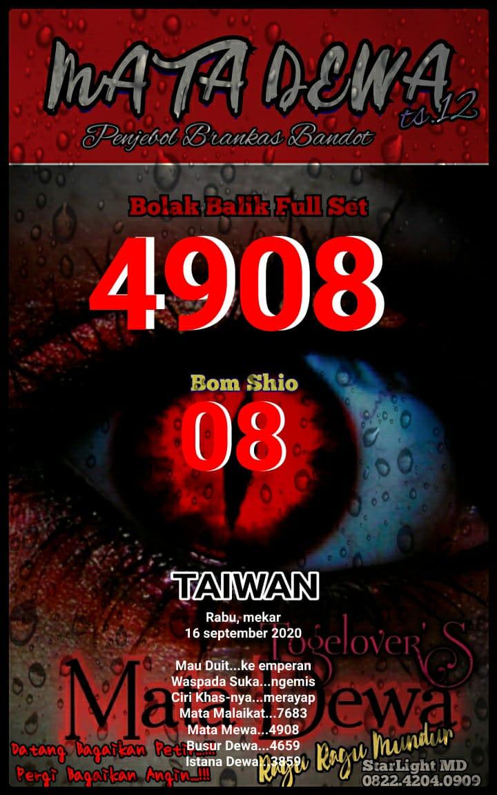 Kode syair Hongkong Rabu 16 September 2020 22