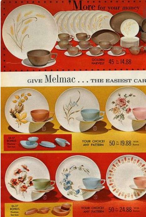 1962 Melmac Insert