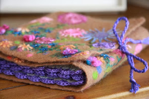 Wet Felted Alpaca Needle Case
