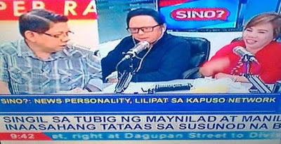 Blind item news personality transferring to GMA Kapuso Network possibly referring to Atom Araullo on Saksi sa Double B with Mike Enriquez Arnold Clavio and Susan Enriquez