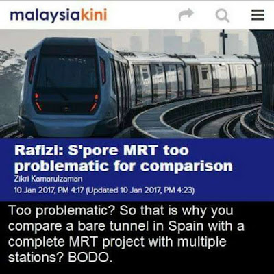 MRT: MALAYSIAKINI SAHKAN FAKTA RAFIZI BERBOHONG