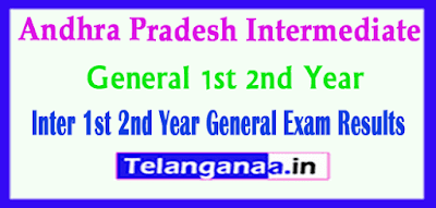 Andhra Pradesh Inter 1st 2nd Year General Exam Results