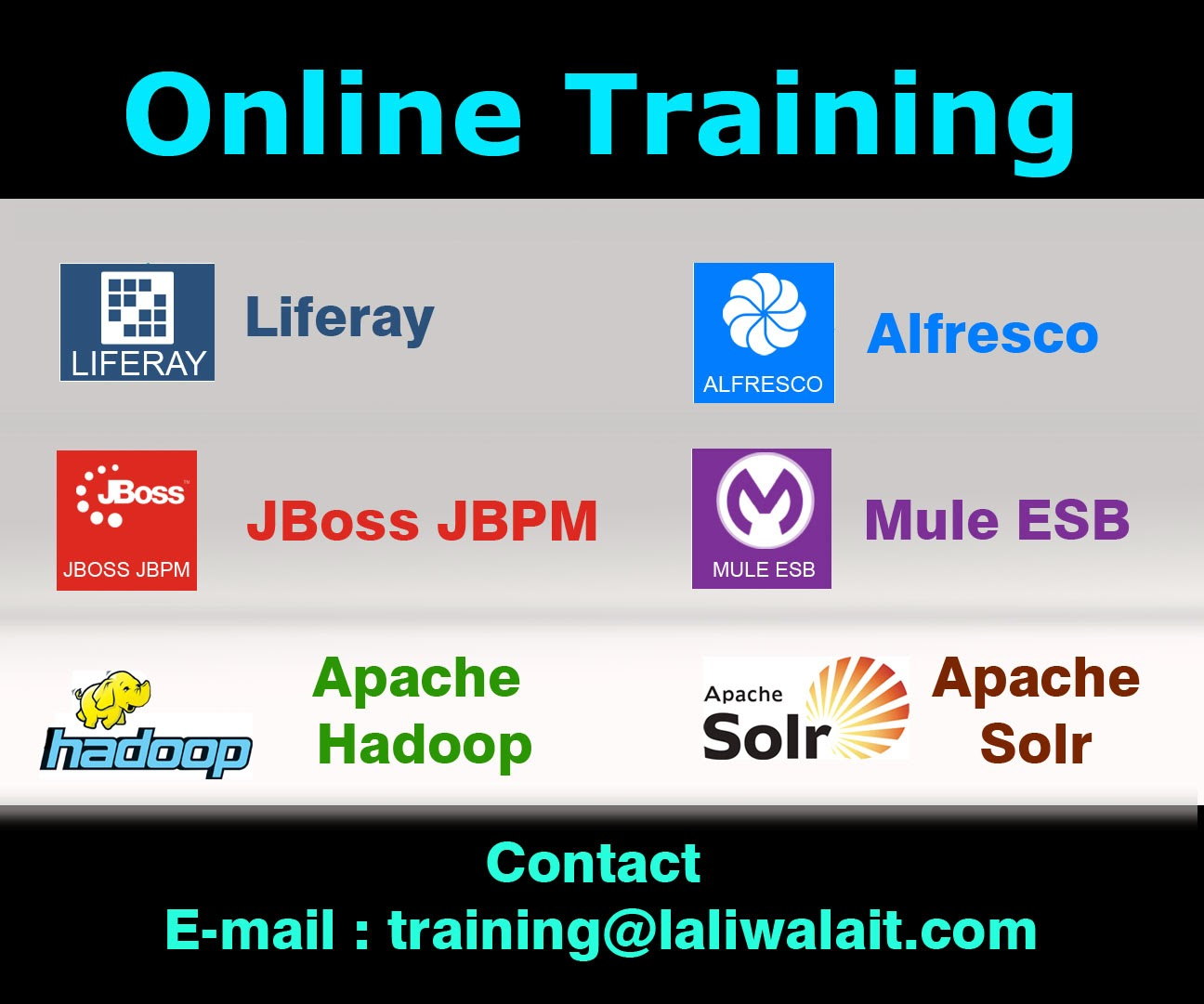 liferay Training, Alfresco Training, Apache Camel Training