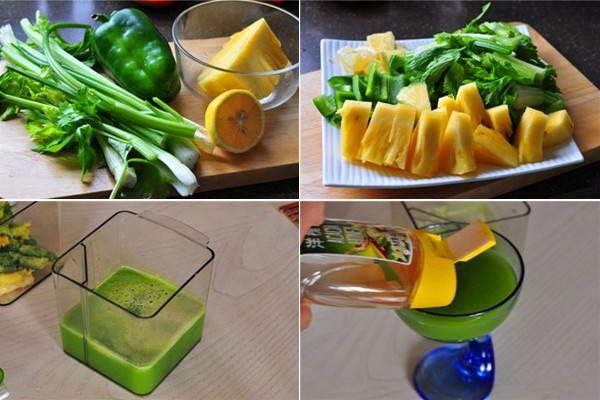 Cách làm Nước ép dứa và ớt chuông giảm cân