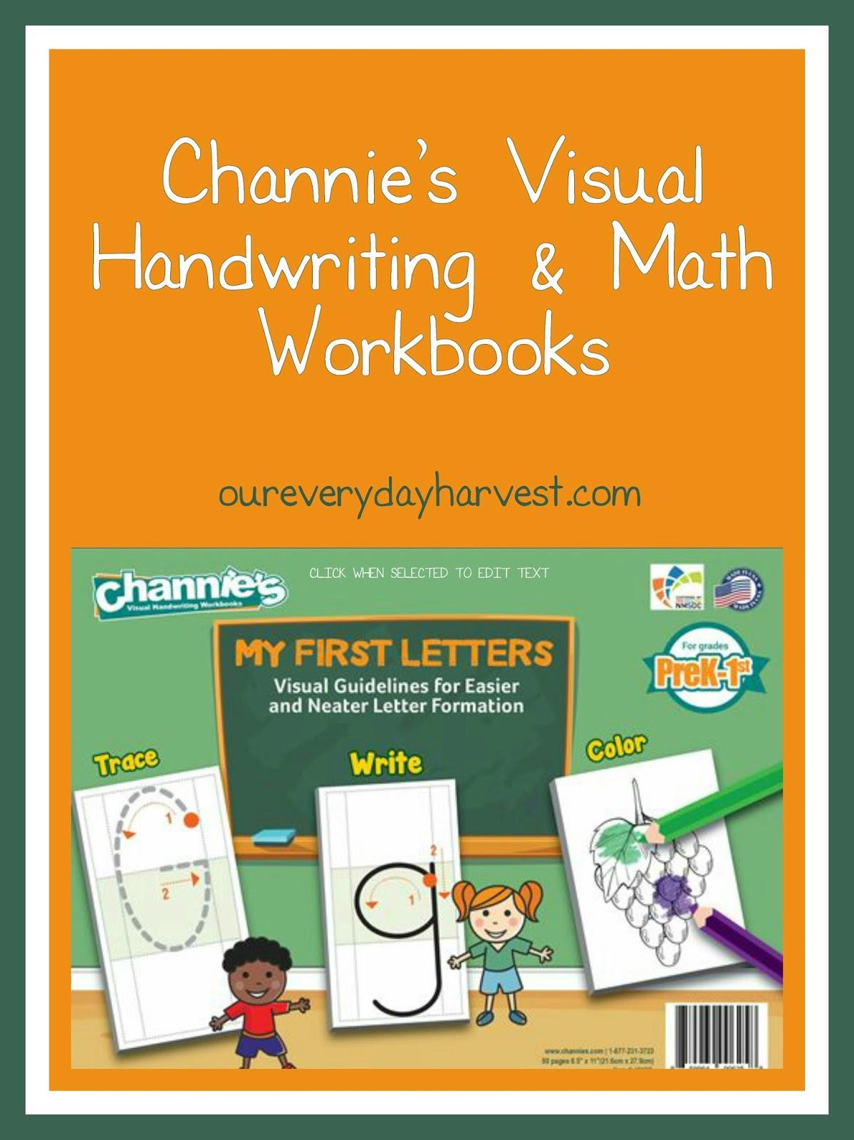 Workbooks everyday math workbook : Channie's Visual Handwriting & Math Workbooks {My First Letters ...
