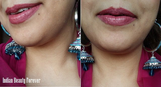 Lakme 9 to 5 Lipstick Pink Bureau Review and swatches FOTD