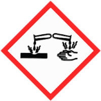 Corrosive hazard sign