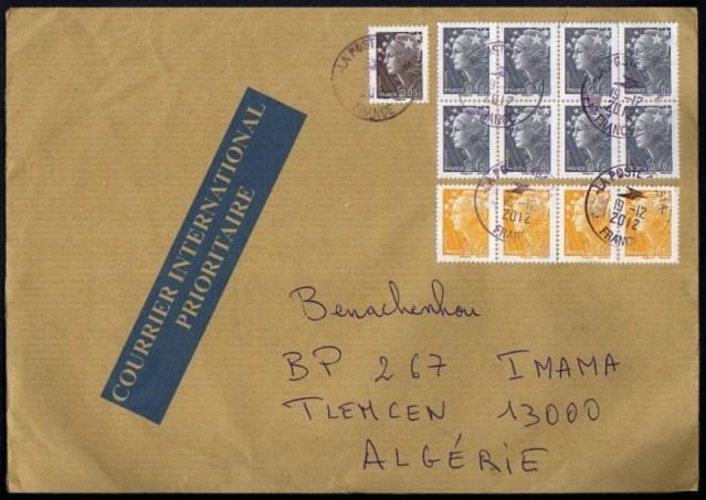 l 39 enveloppe 1er jour plus qu 39 un timbre timbre marianne en feu sur une lettre du 12 12 2012. Black Bedroom Furniture Sets. Home Design Ideas