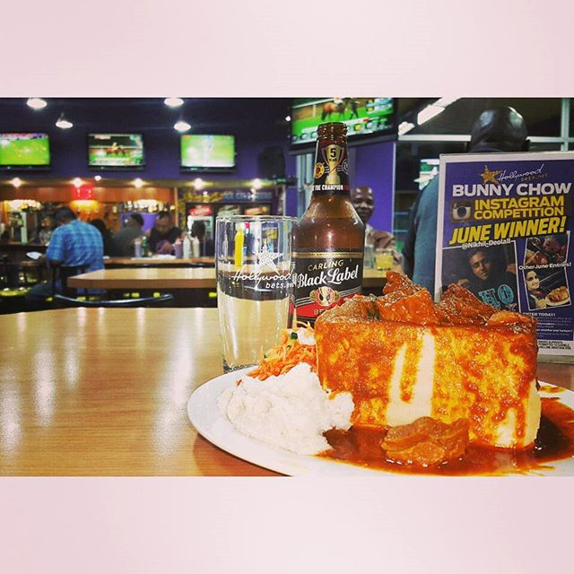 Hollywood Mutton Bunny Chow and Black Label - Hollywoodbets Springfield Park, Durban