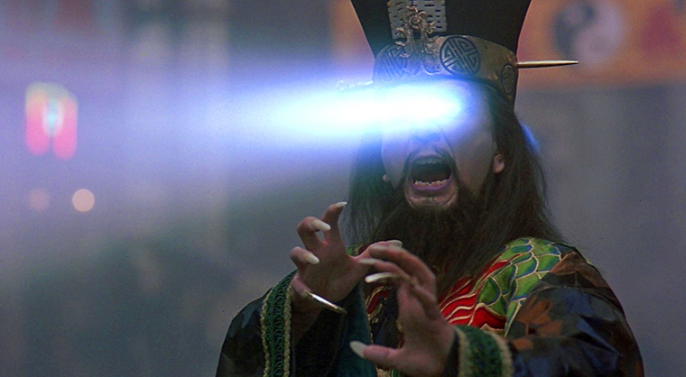 James Hong als Lo Pan in BIG TROUBLE IN LITTLE CHINA. Quelle: MGM/Arrow Video Blu-ray Screenshot