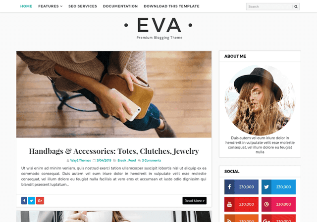 Fashion Blogger Templates | Eva Fashion Blogger Template Btemplates