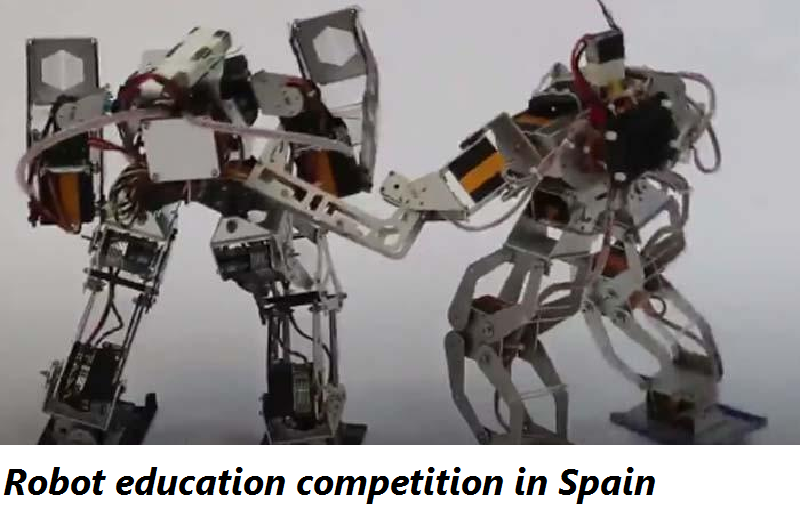 Robot education competition in Spain