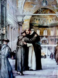 San Francisco y Santo Domingo, una vez se encuentran en el Concilio de Letrán