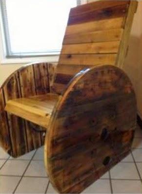 EcoNotascom Muebles con Carretes Reciclados Nuevas