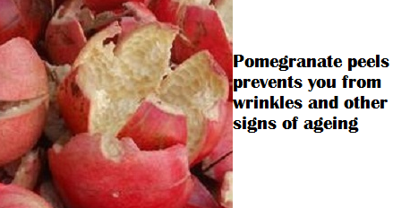 Pomegranate peels prevents you from wrinkles and other signs of ageing