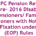 7th CPC Pension Revision of Pre- 2016 Disability Pensioners/ Family Pensioners with Notional Pay Fixation under CCS (EOP) Rules