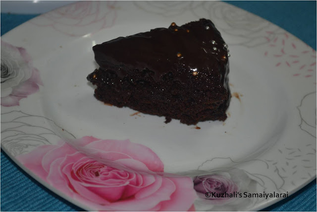 EASY EGGLESS CHOCOLATE CAKE RECIPE USING OIL