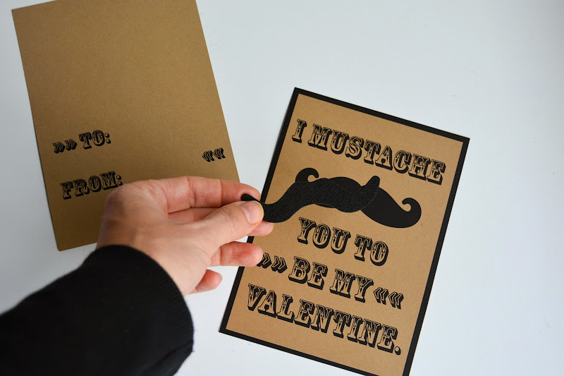 Aesthetic Nest Printables Mustache Valentines (Free Download)
