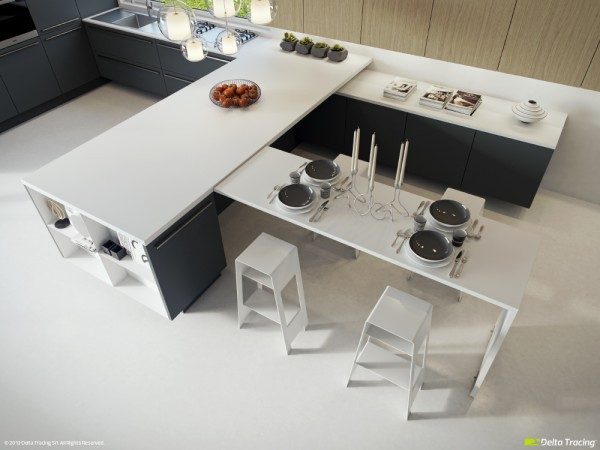 25 Kumpulan Denah Model Desain Gambar Dapur Minimalis Warna Cat Putih