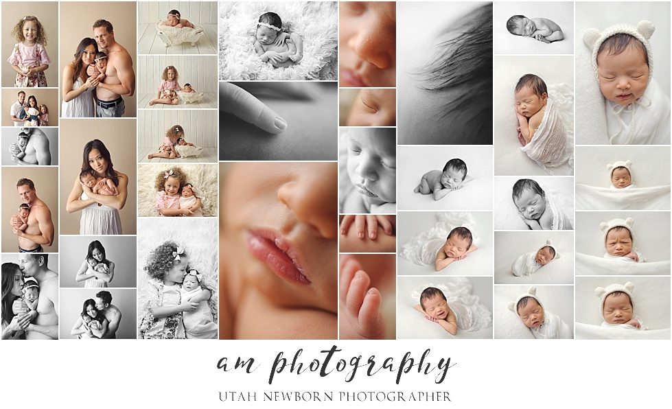 salt lake city utah newborn portrait session with AM Photography