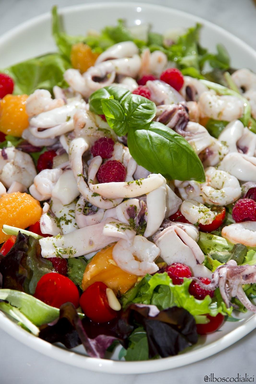 Top il bosco di alici: Insalata tiepida di mare con frutta e verdura PI26