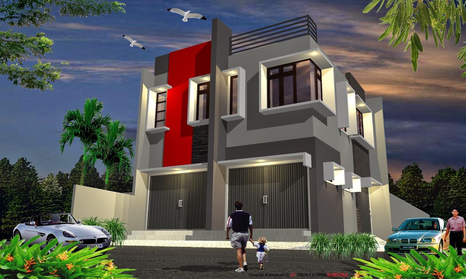 61 Desain Rumah Minimalis Plus Toko Desain Rumah