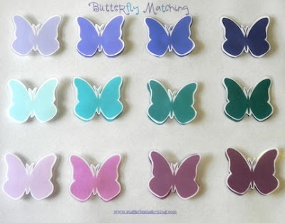 Preschool Matching Game: Butterfly Shades of Color