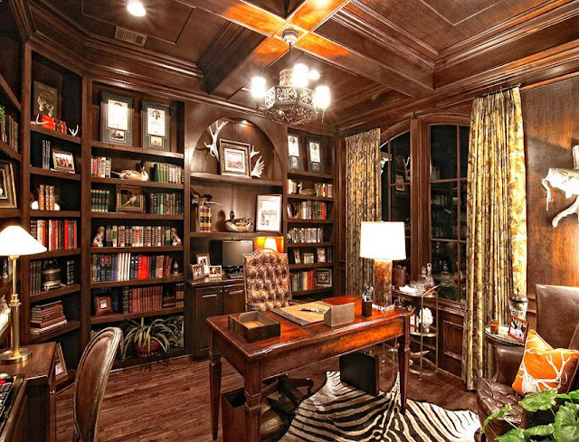 best custom vintage rustic office furniture set with bookshelves decorating ideas
