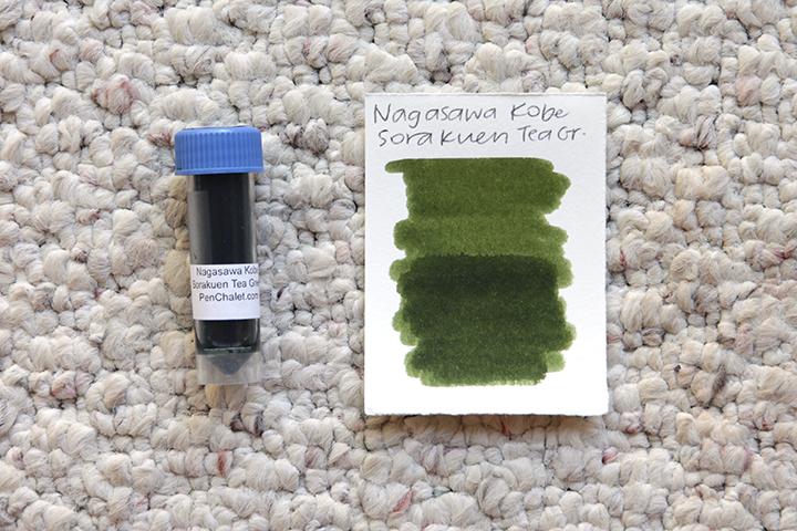 review: nagasawa kobe #34 sorakuen tea green (nagasawa penstyle kobe ink物語 #34 相楽園テイーグリーン)