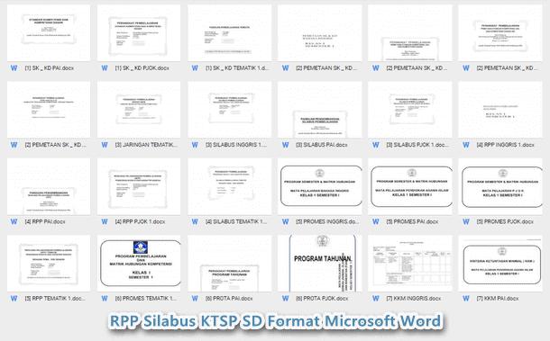 RPP Silabus KTSP SD Kelas 2 Format Microsoft Word