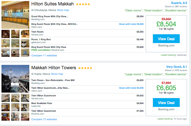 When Is A Hotel Is Too Pricey? Paying £1,000 For A Night In Makkah During Ramadan