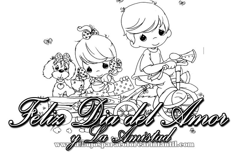 Dia Del Amor Y Amistad Dibujos Para Colorear Imagui