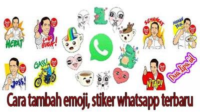 Cara tambah emoji atau stiker whatsapp