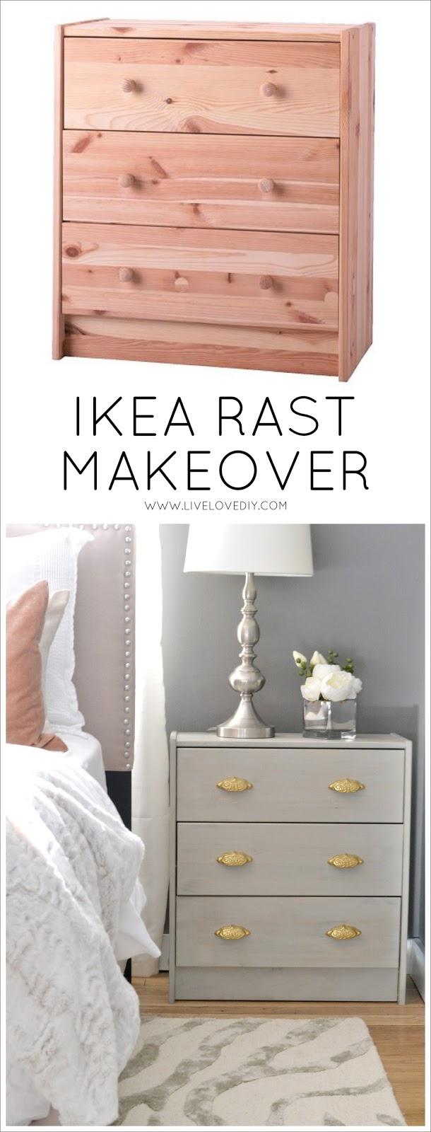 Livelovediy Diy Ikea Rast Makeover With Weathered Gray Wood