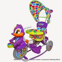 Sepeda Roda Tiga Royal RY7788CJ Baby Joy Tupai dengan Kanopi dan Jok Kain