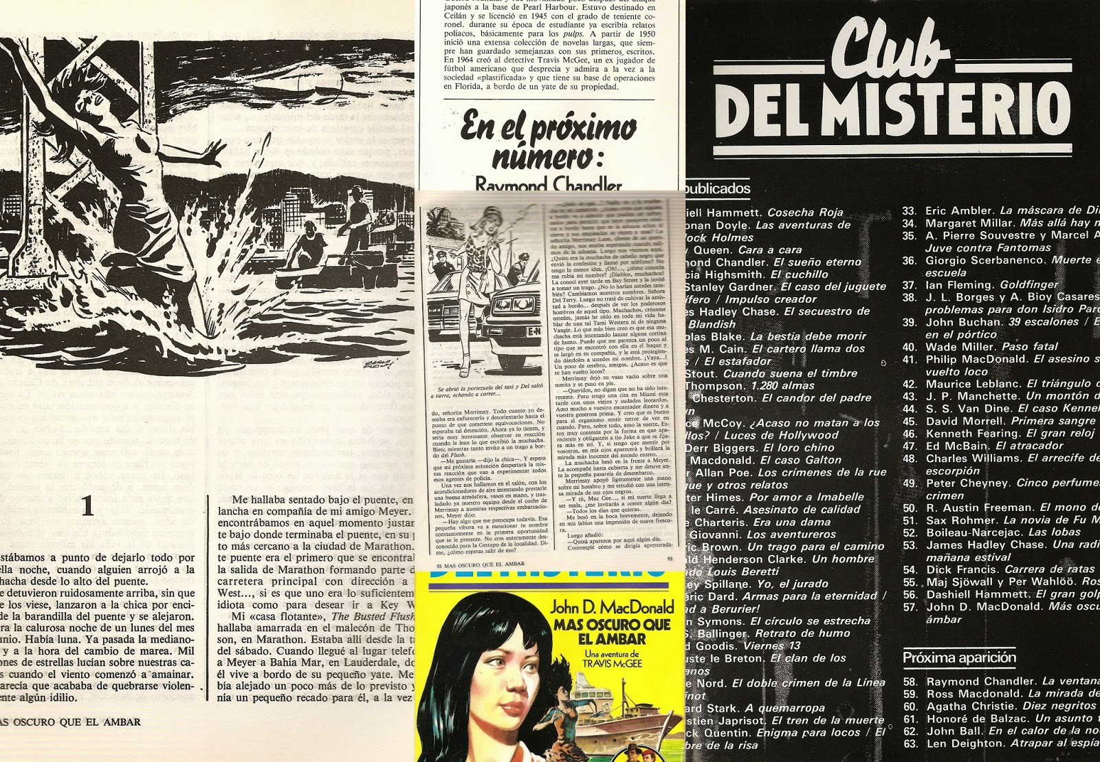 """Darker than amber"", Pulp fiction, novela negra, John D. MacDonald"