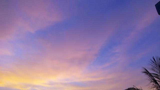 Afternoon Sunset Like Aurora Borealis