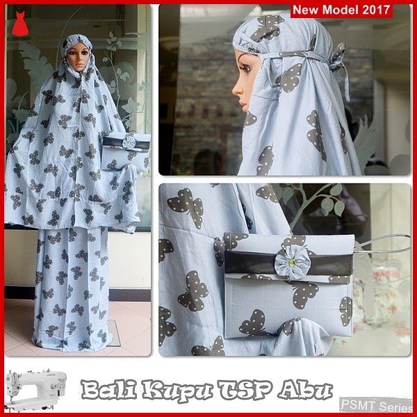 PSMT003A Mukena Bali 48 Sudah Tas Abu Grosir BMG
