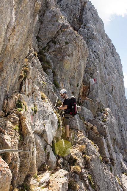 Zweitätige Wanderung im Gesäuse von Gsatterboden zum Buchsteinhaus und weiter über den Südwandband Klettersteig auf den Großen Buchstein - am Klettersteig