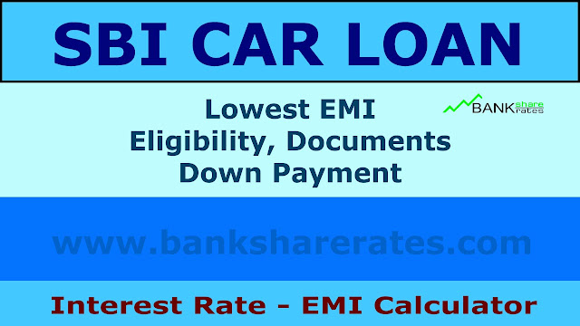SBI Car Loan Interest Rate @ 9.20% July 2017 - EMI Calculator, Lowest EMI, Eligibility ...