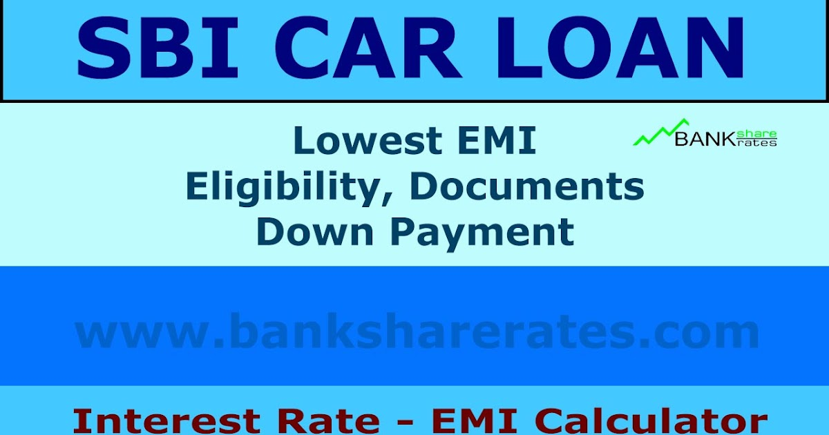 SBI Car Loan Interest Rate 920  Eligibility  Documents